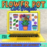 Digital Spring Activity: Build A Flower Pot Art Project & Writing Prompts