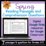 Digital Spring Reading Comprehension Passages and Questions