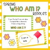 Digital Spring Who Am I Riddles   Virtual Brain Break