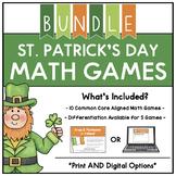 Digital St. Patrick's Day Themed Math Centers BUNDLE