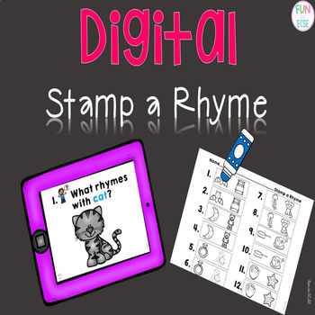 Digital Stamp the Rhyme Center Activity