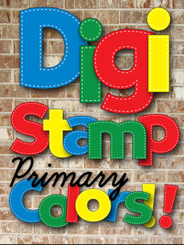 Digital Stamps - Alphabet in Stitches - Primary Colors - 4 Complete Alphabets
