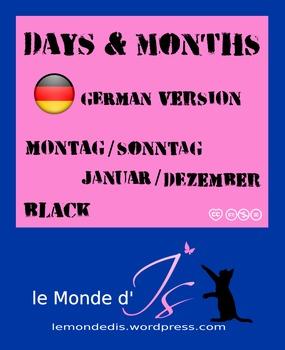 Digital Stamps Days & Months 01 German Version