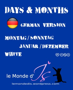 Digital Stamps Days & Months 01 German Version2