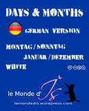 Digital Stamps Days & Months 01 German Version2