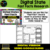 Digital State Fast Facts - Google Classroom Distance Learning