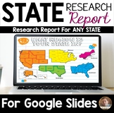 Digital State Research Project - For Use With Google Slides and Google Classroom