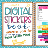 DIGITAL STICKERS for Lesson Plans {Book 1 Extension Pack}