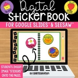 Digital Stickers & Sticker Book for Distance Learning in G