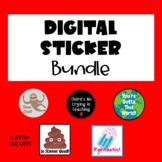 Digital Sticker Bundle for #Distance Learning