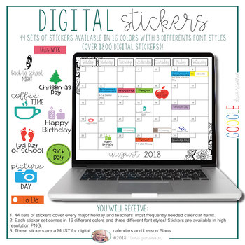 Digital Stickers [for Lesson Plans, Calendars, and Teacher Binders]