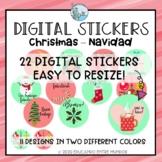 Digital Stickers Christmas Spanish Pegatinas Digitales  Navidad