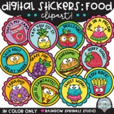 Digital Stickers Clipart Food Theme {distance learning stickers}
