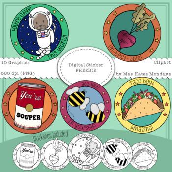 Digital Stickers Clipart Freebie