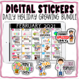 Digital Stickers **DAILY HOLIDAY EDITION -- GROWING BUNDLE