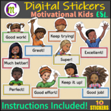 Digital Stickers Distance Learning Google Classroom & SeeS