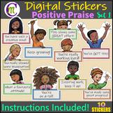 Digital Stickers Distance Learning SeeSaw & Google Classro