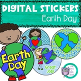 Digital Stickers Earth Day Themed