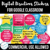 Digital Stickers For Google Classroom (Distance Learning)
