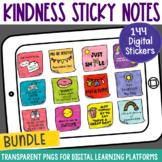 Digital Stickers Positive Message Sticky Notes BUNDLE | Di