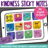 Digital Stickers Positive Message Sticky Notes Set 2 | Dis
