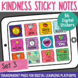 Digital Stickers Positive Message Sticky Notes Set 3 | Dis