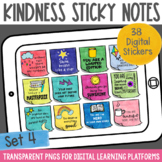Digital Stickers Positive Message Sticky Notes Set 4 | Dis
