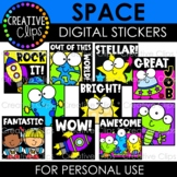 Digital Stickers: Space Stickers {Made by Creative Clips Clipart}