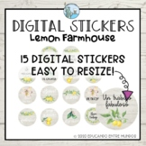 Digital Stickers Spanish Pegatinas Digitales Lemon Farmhou