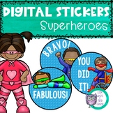 Digital Stickers Superheroes Distance Learning