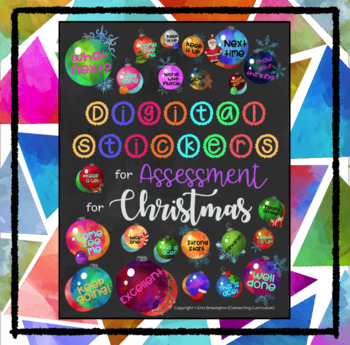 Digital Stickers for Assessment at Christmas