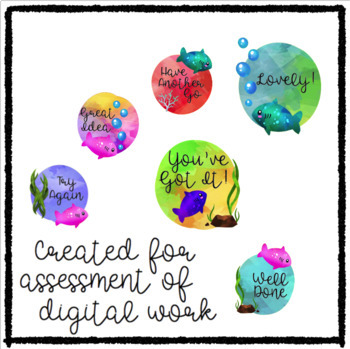 Digital Stickers for Assessment with Fish