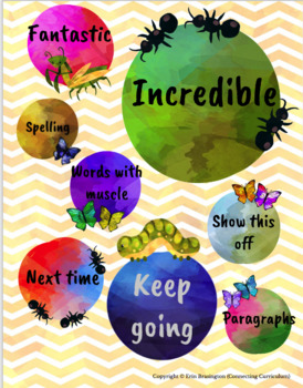 Digital Stickers for Assessment with Insects
