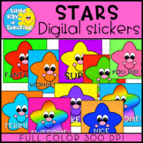 Digital Stickers STARS for DISTANCE LEARNING
