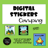 Digital Stickers for #Distance Learning: Camping (Freebie)