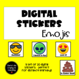 Digital Stickers for #Distance Learning:  Emojis