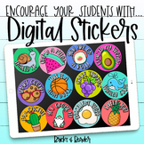 Digital Stickers for Distance Learning Google Classrooms