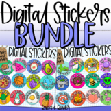 Digital Stickers for Distance Learning Google Classrooms BUNDLE