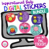 Inspirational Digital Stickers BUNDLE Distance Learning Go