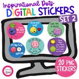Motivational Digital Stickers Set 2 Distance Learning | Go