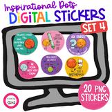 Inspirational Digital Stickers Set 4 Distance Learning Goo