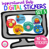 Motivational Digital Stickers Set 5 for Distance Learning