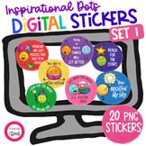 Inspirational Digital Stickers Set 1 Distance Learning Goo