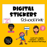 Digital Stickers for #Distance Learning:  Kids