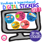 Digital Stickers Inspirational Set 1 Distance Learning See