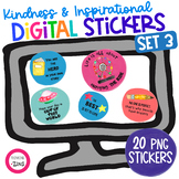 Digital Stickers Inspirational Set 3 for Distance Learning