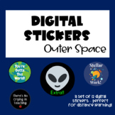 Digital Stickers for #Distance Learning:  Outer Space