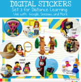 Digital Stickers for Distance Learning Set 3