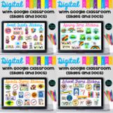 Digital Stickers for Google Classroom Rewards BUNDLE - Dis