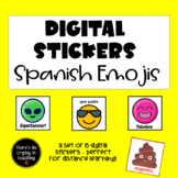 Digital Stickers in Spanish for #Distance Learning: Emojis